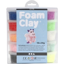 Creativ Foam Clay Glitter 35g Set of 10