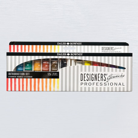 Daler Rowney Designer Gouache Introduction Set of 12 15ml | Cass Art