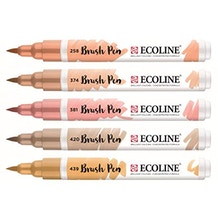 Ecoline Watercolour Brush Pen Beige Pink Set of 5