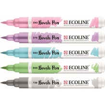 Ecoline Watercolour Brush Pen Pastel Set of 5