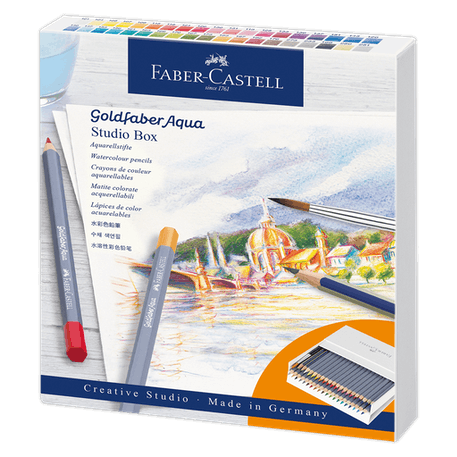 Faber Castell Goldfaber Creative Studio Aqua Watercolour Pencil Set of 40 | Cass Art