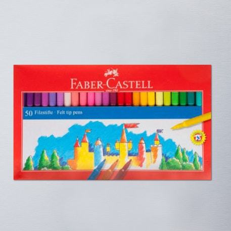 Faber-Castell Fibre Tip Pen Box Set of 50 | Cass Art