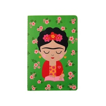 Sass and Belle Frida Kahlo Artist Flower A5 Notebook