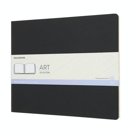 Moleskine Art Cahier Sketch Album - Black - Black | Cass Art
