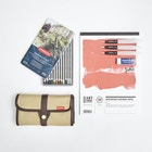 Jake Spicer Drawing Set with Pencils, Paper & Accessories