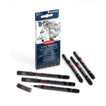 Derwent Line Maker Black Set of 6