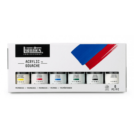 Liquitex Professional Acrylic Gouache Primaries Set of 6 x 59ml | Cass Art