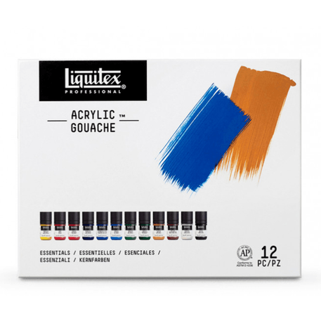 Liquitex Professional Acrylic Gouache 22ml Essentials Set of 12 | Cass Art