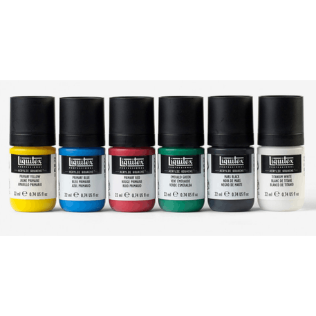Liquitex Professional Acrylic Gouache Primaries Set of 6 x 22ml | Cass Art