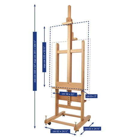 Mabef M19 Double Sided Display Easel   Professional Easels   Cass Art