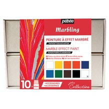 Pebeo Collection Set Marbling 45ml Assorted Colours Set of 10