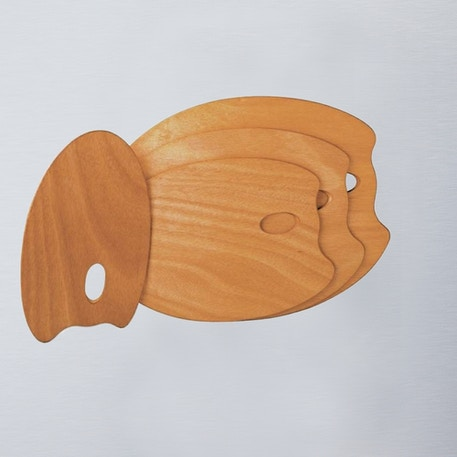Mabef OVAL Wooden Palette 25x35 | Cass Art