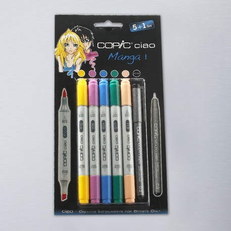 Copic Ciao Markers Manga Set 1 Pack of 6 | Cass Art
