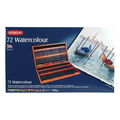 Derwent Watercolour Pencil Wooden Box Set of 72 | Cass Art