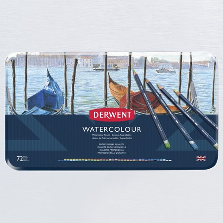 Derwent Watercolour Pencil Tin Set of 72 | Cass Art