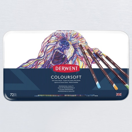 Derwent Coloursoft Tin Set of 72 | Cass Art