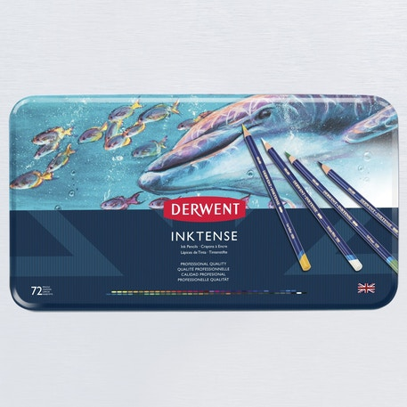 Derwent Inktense Pencil Tin Set of 72 | Cass Art