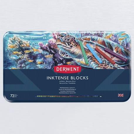 Derwent Inktense Blocks Tin Set of 72