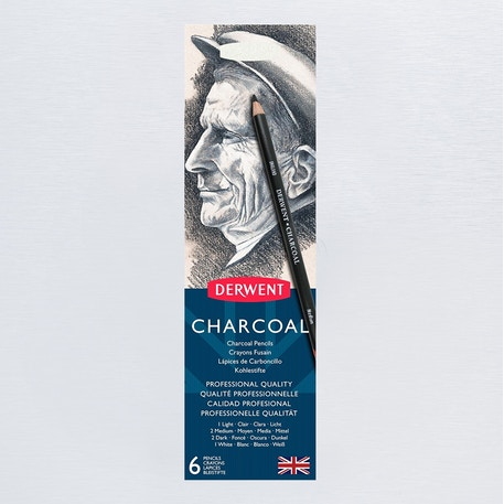 Derwent Charcoal Pencil Tin Set of 6 | Cass Art