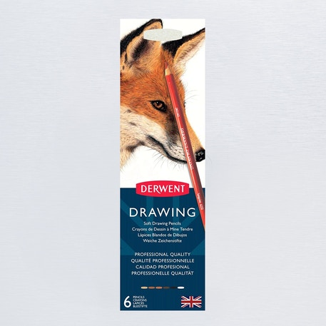 Derwent Drawing Pencil Tin Set of 6 | Cass Art