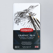 Derwent Graphic Soft Pencil 9B to H Set of 12