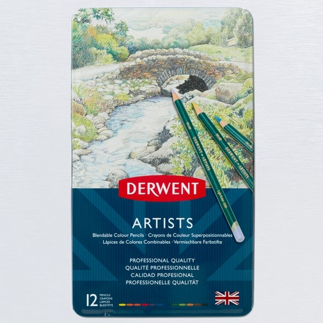 Derwent Artists' Pencils Tin Set of 12 | Cass Art