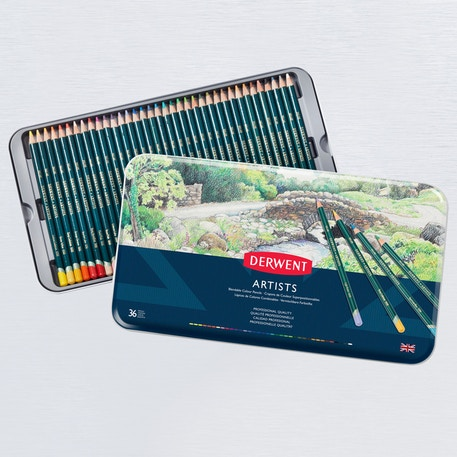 Derwent Artists' Pencils Tin Set of 36 | Cass Art