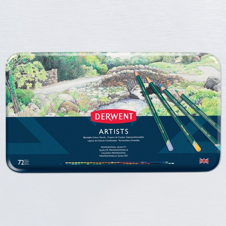 Derwent Artists' Pencils Tin Set of 72 | Cass Art