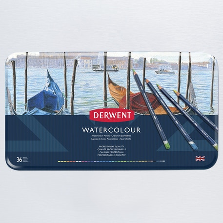 Derwent Watercolour Pencil Tin Set of 36 | Cass Art