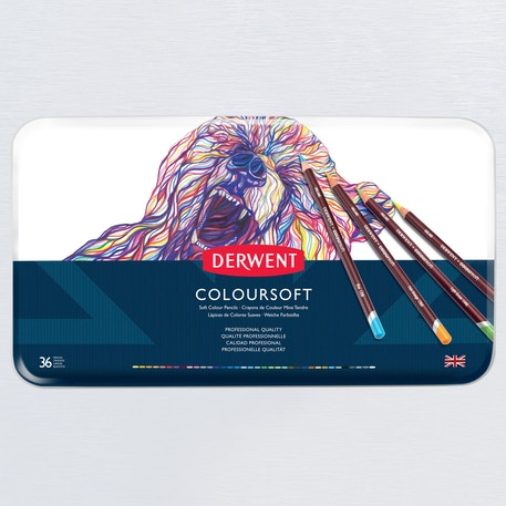 Derwent Coloursoft Tin Set of 36 | Cass Art