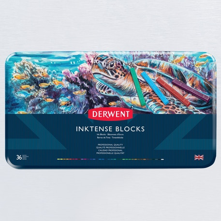 Derwent Inktense Blocks Tin Set of 36 | Cass Art