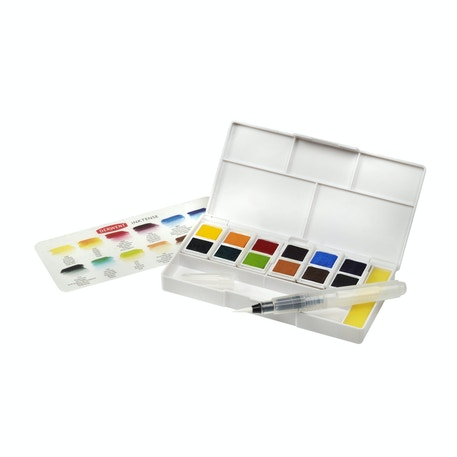 Derwent Inktense Paint Pan Travel Set of 12 | Cass Art