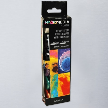 Pebeo Mixed Media Discovery 20ml Assorted Colours Set of 6 | Cass Art