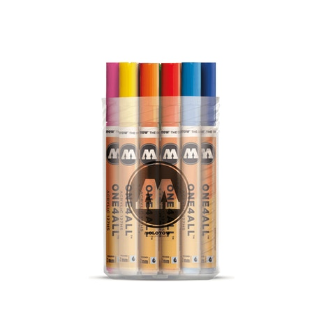 Molotow ONE4ALL 127HS Acrylic Marker Main Kit 1 Box 2mm Assorted Colours Set of 20   Cass Art
