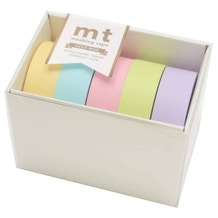 MT Washi Masking Tape Gift Box Pastel 2 Pack of 5 Rolls