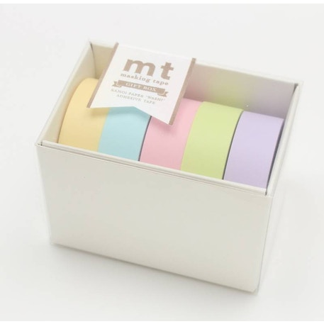 MT Washi Masking Tape Gift Box Pastel 2 Pack of 5 Rolls | Cass Art