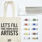 Artists' Oil Gift Set with Paint, Canvas, Brushes and Gift Bag
