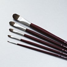 Da Vinci Russian Black Sable Filbert Series 1845 Brush