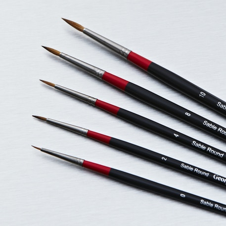 Daler Rowney Georgian Sable Round | Oil Painting Brushes | Cass Art