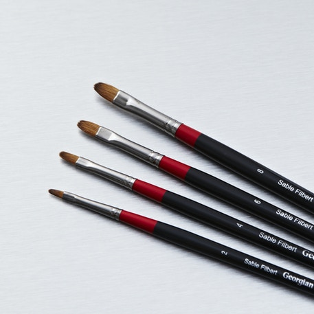 Daler Rowney Georgian Sable Filbert | Paint Brushes | Cass Art