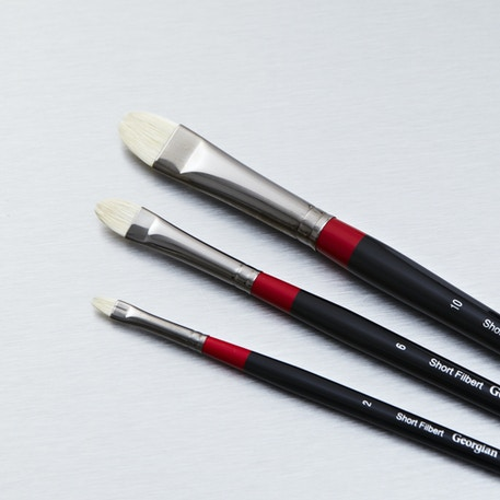 Daler Rowney Georgian Short Filbert | Artist Brushes | Cass Art