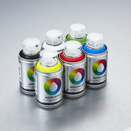 Mtn Water Based Spray Paint Workshop 100ml Set of 6 | Cass Art