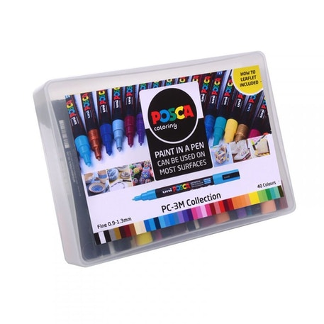 Posca Paint Marker PC-3M Collection 0.9-1.3mm Set of 40 | Cass Art