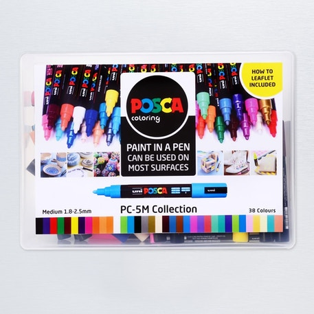 Posca Paint Marker PC-5M Collection 1.8-2.5mm Set of 39 | Cass Art