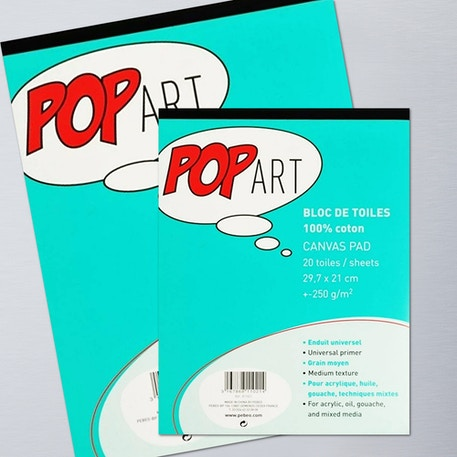 Pebeo Pop Art 100% Cotton Canvas Pad | Cass Art