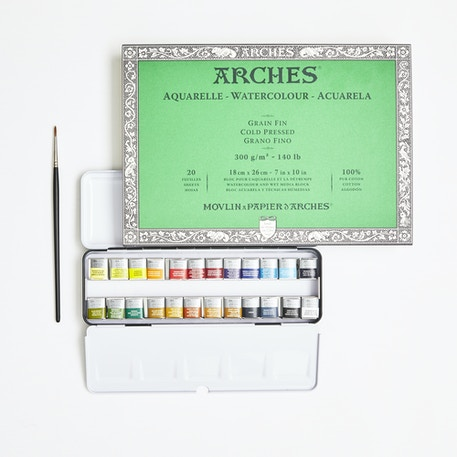 Artists' Watercolour Set with Paint, Paper & Brush | Cass Art