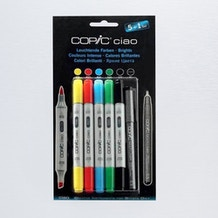 Copic Ciao Markers Bright Tones Pack of 6
