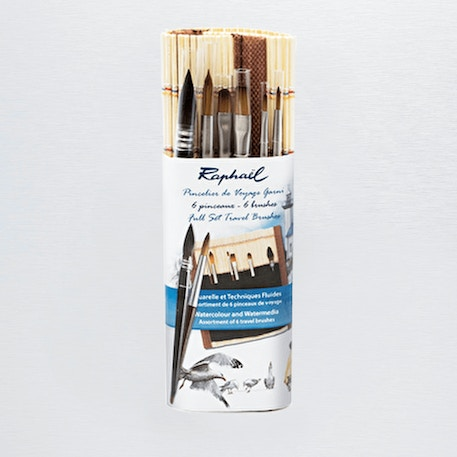 Raphael Bamboo Brush Roll Set of 6 | Cass Art