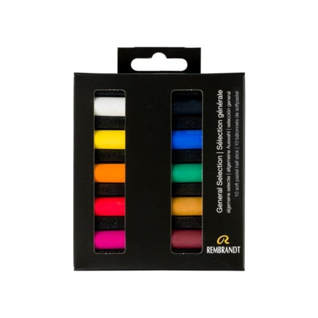 Rembrandt Soft Half Pastels General Selection Set of 10 | Cass Art