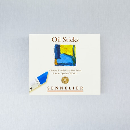 Sennelier Basic Oil Stick 38ml Assorted Colours Set of 6 | Innovative Oil Paint | Cass Art